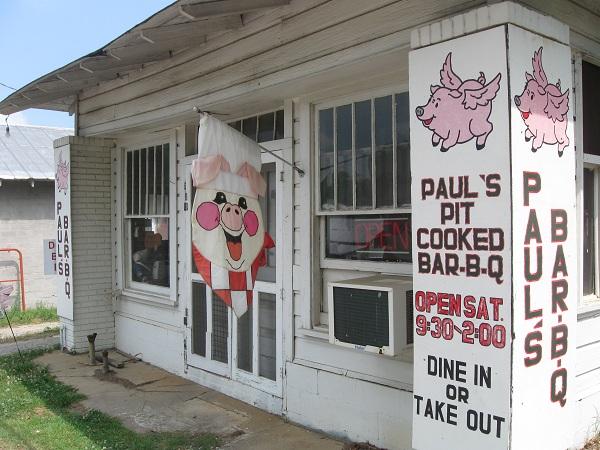 Paul's Bar-B-Q, Lexington GA(CLOSED)