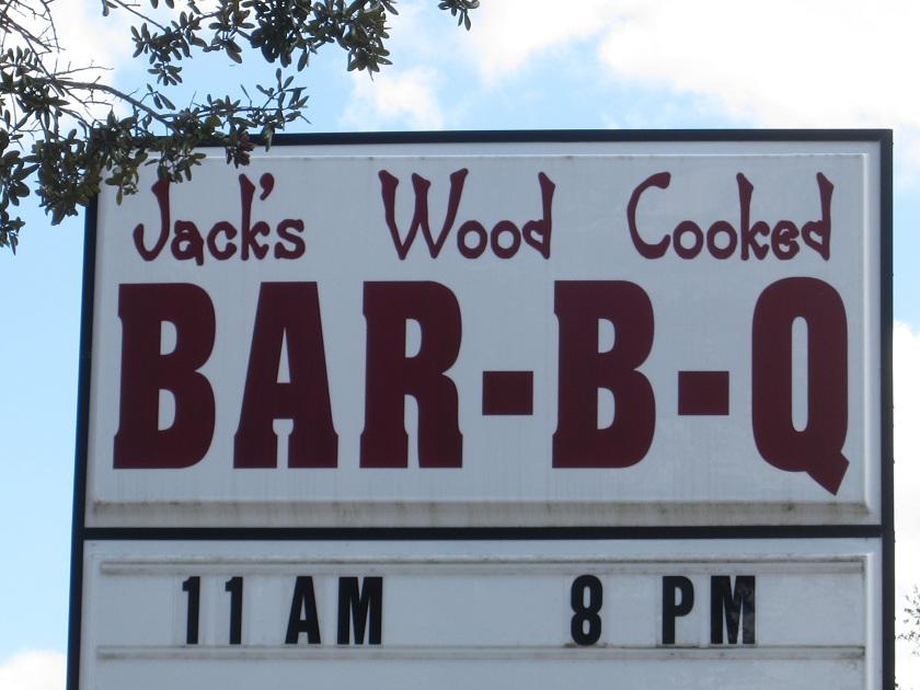 Jack's Bar-B-Q, Kingsland GA(CLOSED)