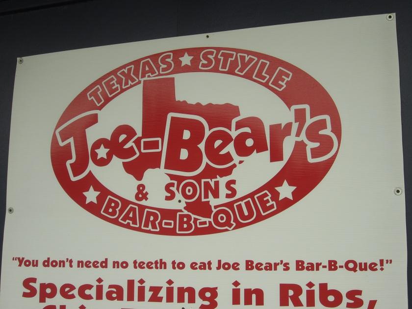 Joe-Bear's and Sons Bar-B-Que, MaconGA