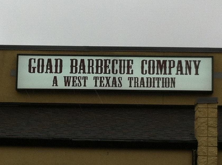 Goad Barbecue Company, Lawrenceville GA(CLOSED)