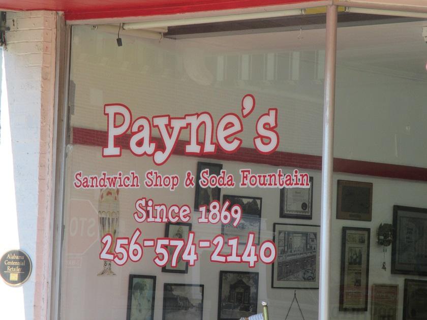 Payne's Sandwich Shop and Soda Fountain, ScottsboroAL
