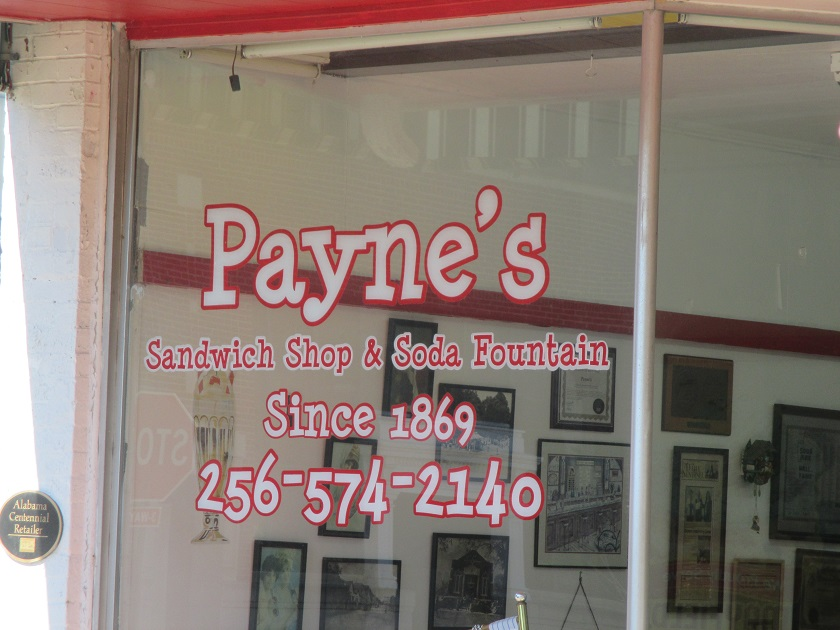 Payne's Sandwich Shop and Soda Fountain, Scottsboro AL