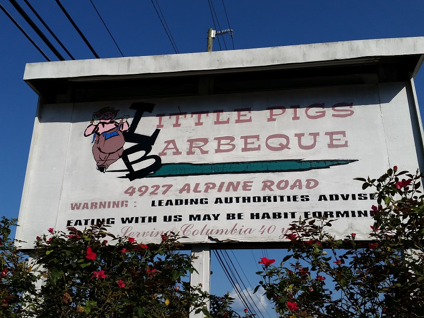 Little Pigs Barbeque, Columbia SC