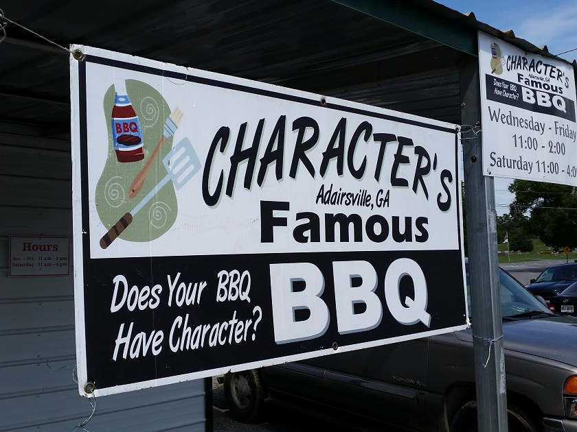 Character's Famous BBQ, Adairsville GA (taketwo)