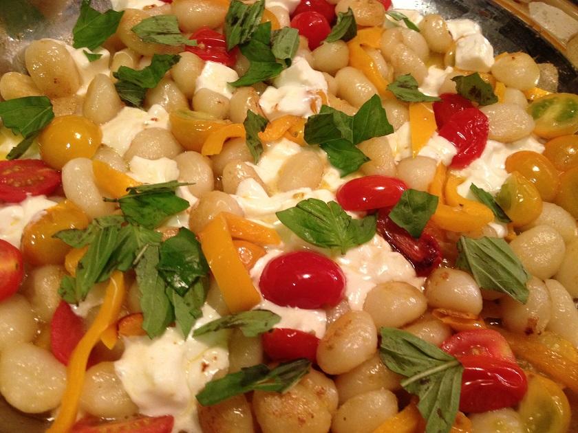 Fried Gnocchi with Mozzarella and CherryTomatoes