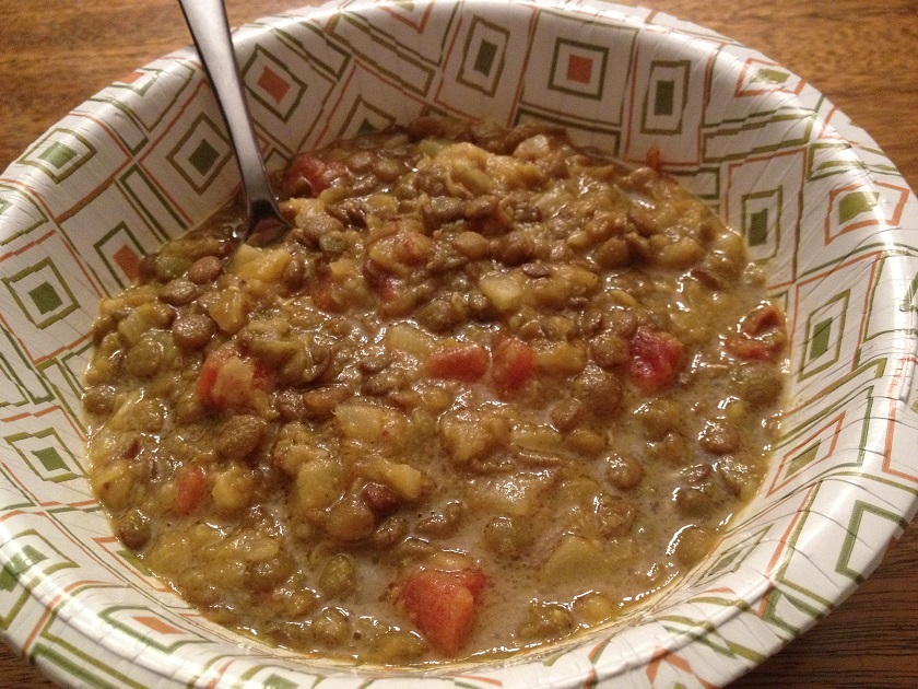 Curried Lentils with Pineapple