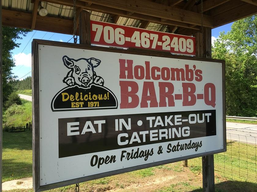 Holcomb's Bar-B-Q, White PlainsGA