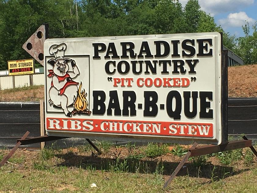 Paradise Country Bar-B-Que, MilledgevilleGA