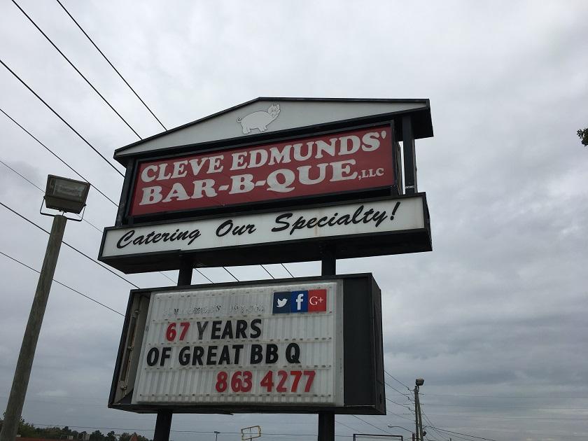 Cleve Edmunds Bar-B-Que, AugustaGA