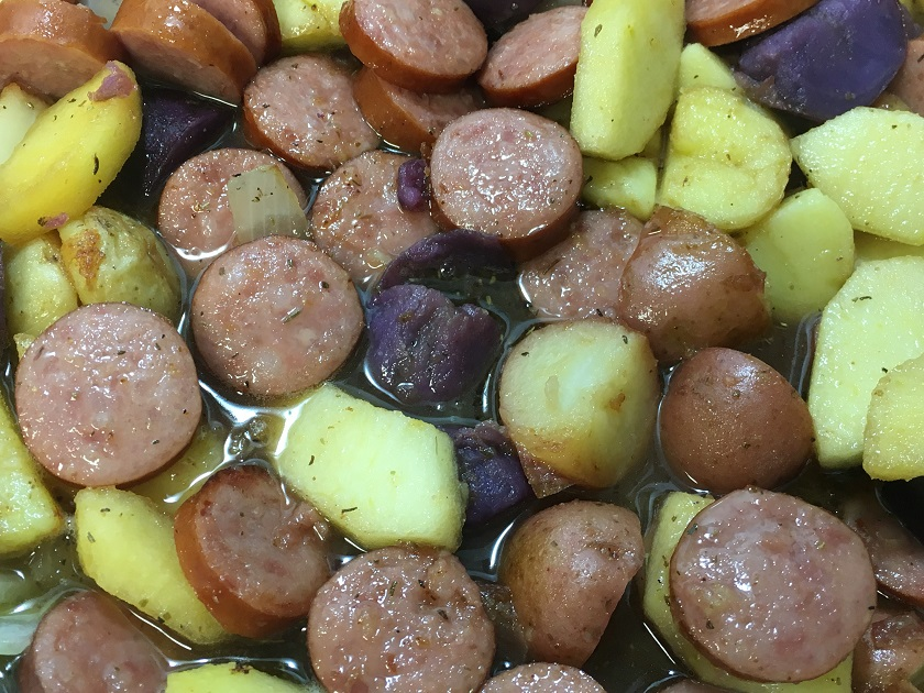 Sausage and Apple Skillet Meal