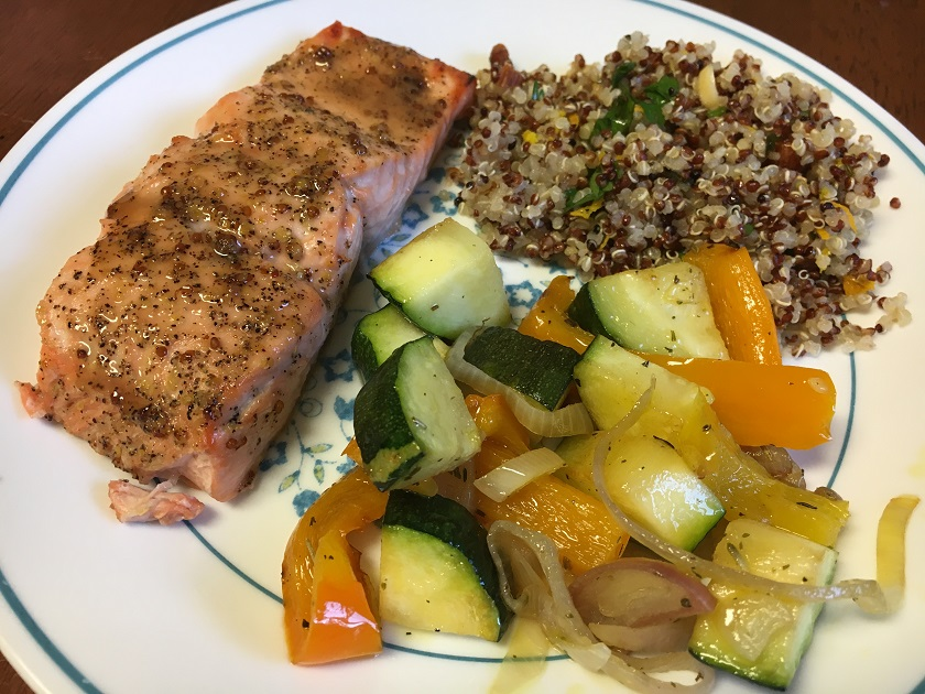 Glazed Salmon With Zucchini